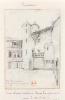 Cour d'une maison dans la grande rue à Morlaix