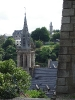 Tour de l'église Saint-Melaine vue du viaduc